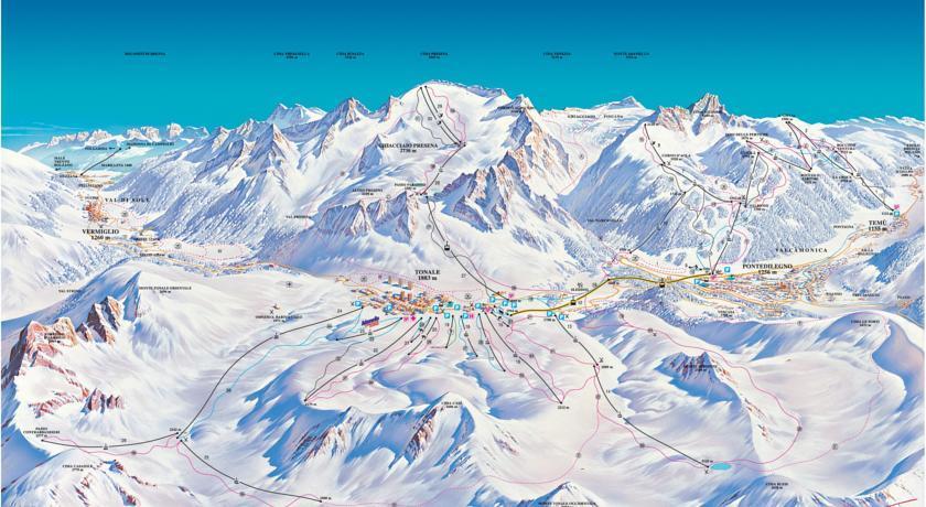Středisko zaručuje téměř 100 km sjezdových tratí