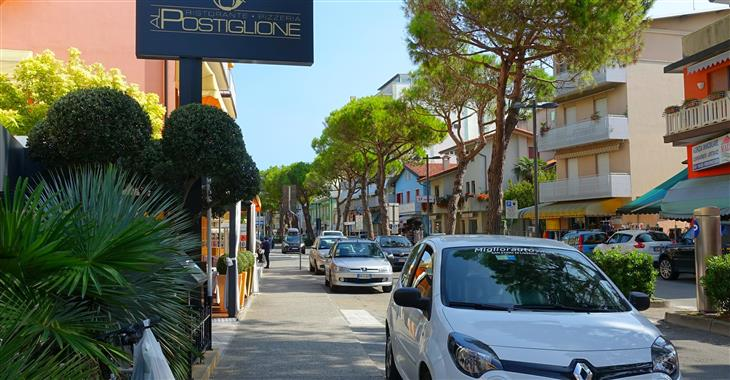 ulice u hotelu Viale Santa Margherita