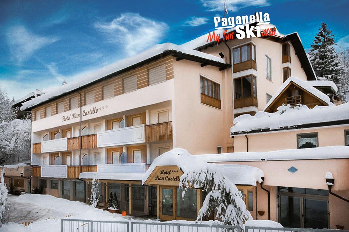 Hotel Piancastello - 5denní lyžařský balíček se skipasem a dopravou v ceně***