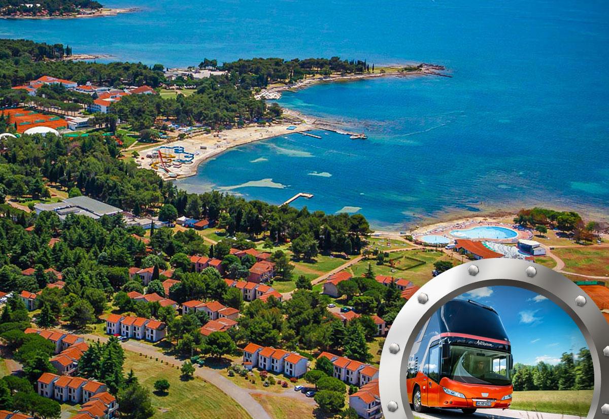 Zkrácená dovolená na Istrii v apartmánech Polynesia s bazénem a dopravou v ceně***