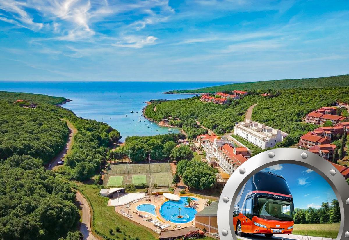Skrátená dovolenka na Istrii v hoteli Duga Uvala s bazénom a dopravou v cene***