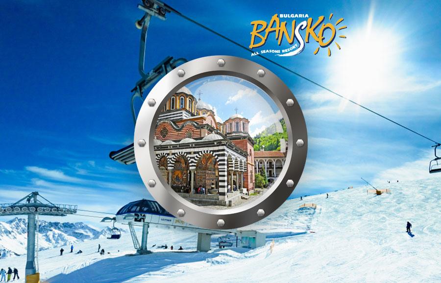 Velikonoční lyžování – Grand Hotel Bansko, balíček s dopravou a ubytováním****