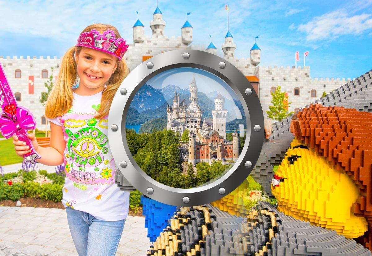 Legoland a pohádkový zámek Neuschwanstein