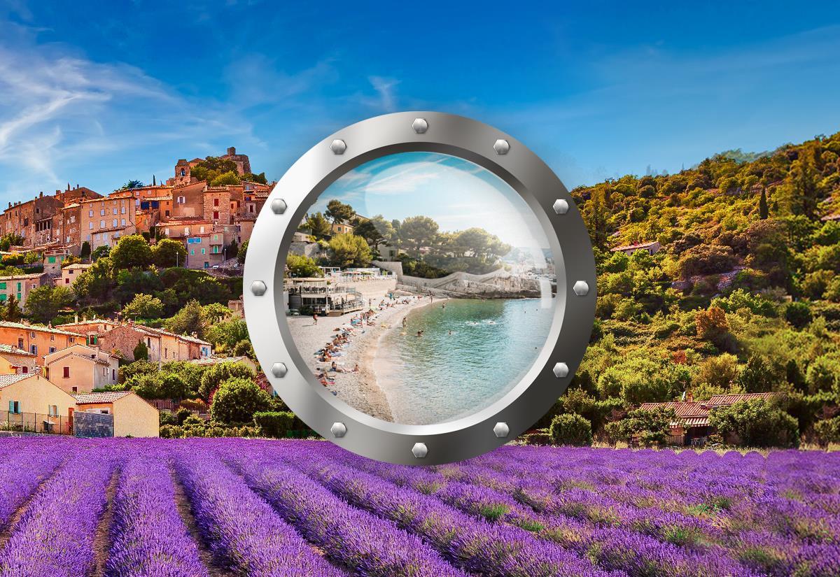 Provence s koupáním u moře