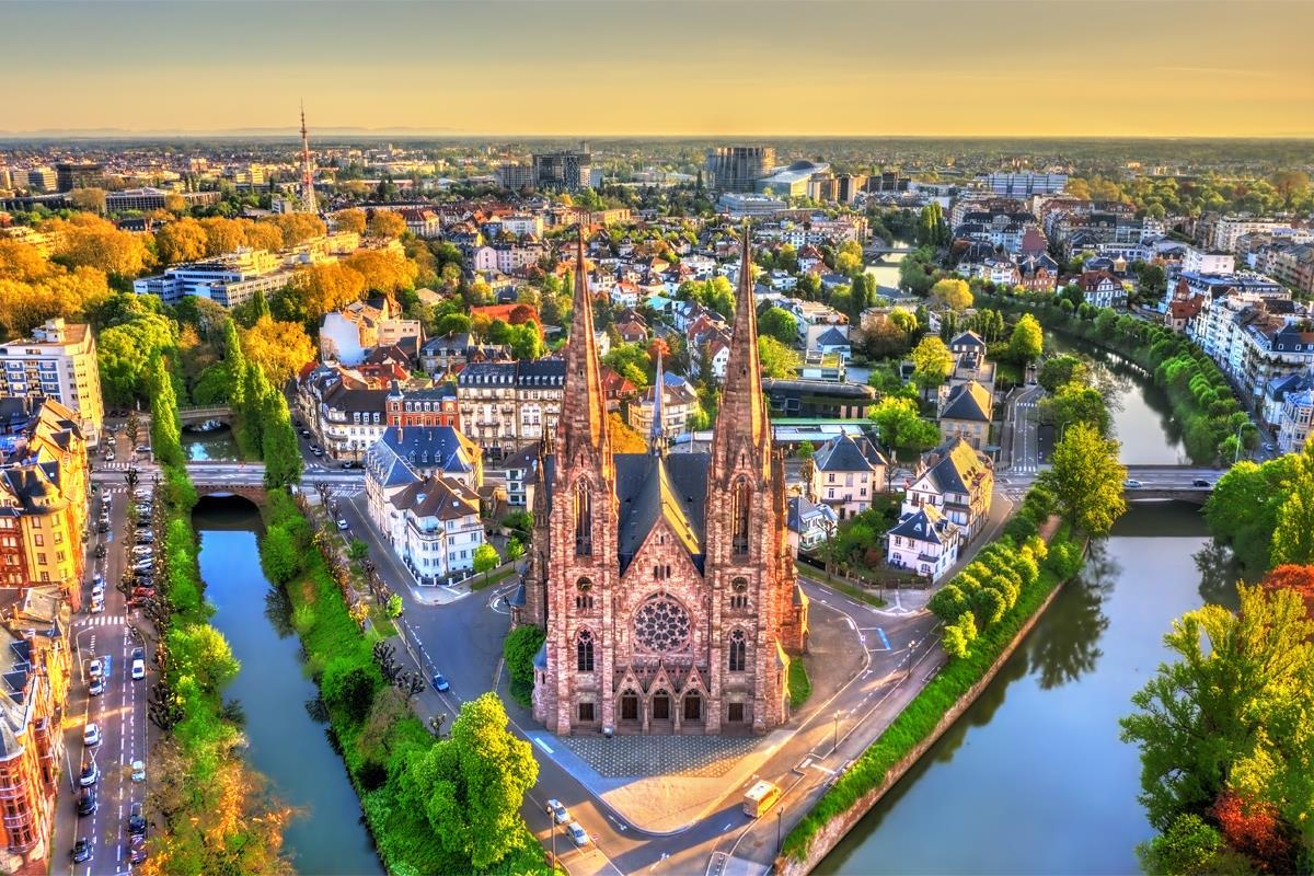 Kostel svatého Pavla ve Štrasburku - Alsasko, Francie