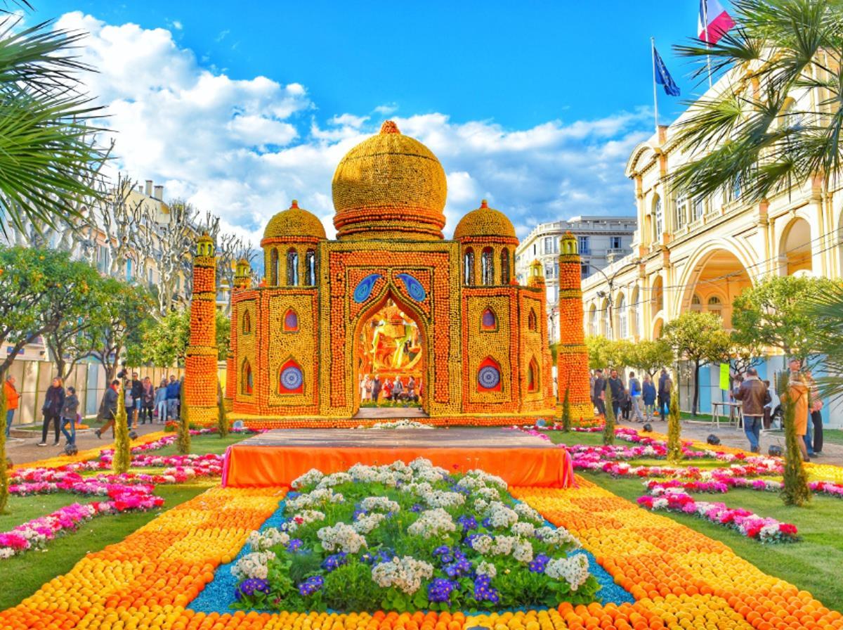 Monte Carlo a festival citrusů v Mentonu