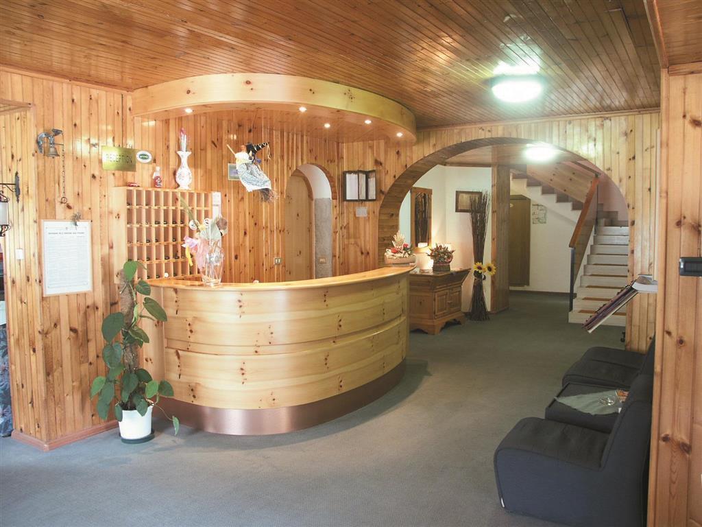 Hotel je vybaven recepcí, barem, restaurací, malou knihovnou, dětským koutkem, výtahem, úschovnou lyží, wi-fi připojením ve společných prostorech (zdarma) a parkovištěm (omezená kapacita)