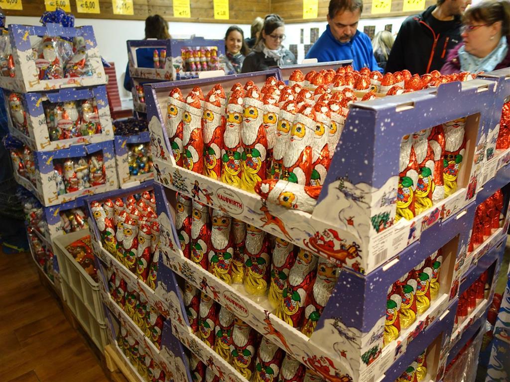 V čokoládovně Hauswirth si budete moci nakoupit spoustu chutných suvenýrů
