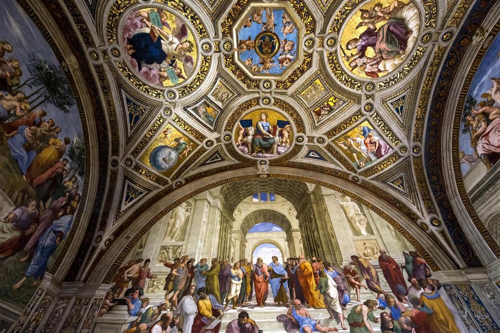 Rafaelovy síně jsou čtyři pokoje, které jsou zdobeny jeho překrásnými renesančními freskami