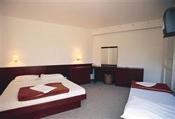 Některé z pokojů (bez balkonu) mají možností jedné přistýlky pro další osobu v pokoji, možnost pokoje s balkonem za příplatek.