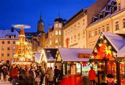 Celé trhy v městě Annaberg-Buchholz působí kouzelným malebným dojmem