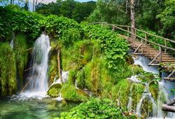 Bohatá zeleň je nedílnou součástí Plitvických jezer
