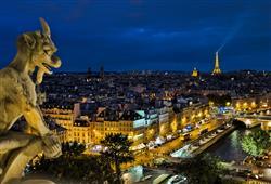 Na ochozy věží katedrály Nôtre Dame můžete za poplatek vystoupat a dostat se tak k jedinečnému výhledu na Paříž