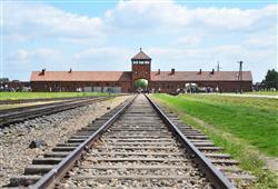 Vězni byli přiváženi vlakem přímo na rampu dovnitř tábora, kde probíhala selekce