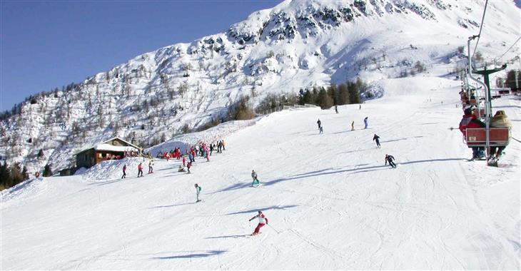 Skiareál Palabione je kolébkou aprického lyžování - od 1 000 - 2 300 m.n.m.