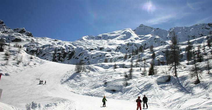 Skiareál Campetti je vhodný pro nováčky na lyžích.