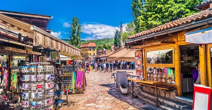 Sarajevo - procházka po historickém centru