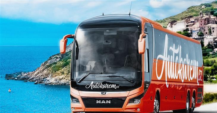 Po trase zájezdu vás může doprovázet jeden z moderních autobusů společnosti Autokarem.cz
