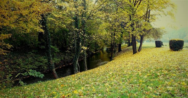 Parkem vede spousta pěších stezek, ale i kanálů